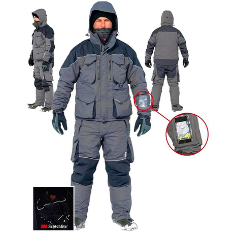 Winter suit rapala interface ice suit m xxl for Ice fishing bibs sale
